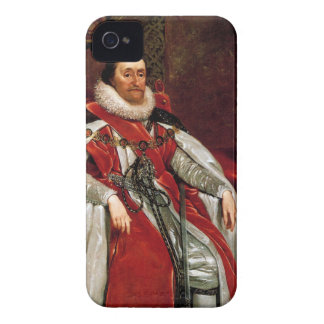 James I by Daniel Mytens iPhone 4 Cases