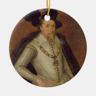 James I of England, and VI of Scotland Christmas Ornament