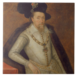 James I of England, and VI of Scotland Tile