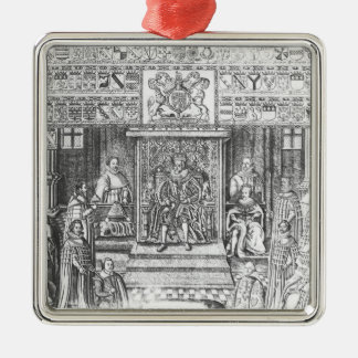 James I of England  at Court Christmas Ornament