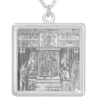 James I of England  at Court Silver Plated Necklace