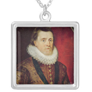James I Silver Plated Necklace