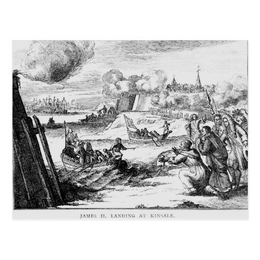 James II  Landing at Kinsale, 12 March 1689 Postcard