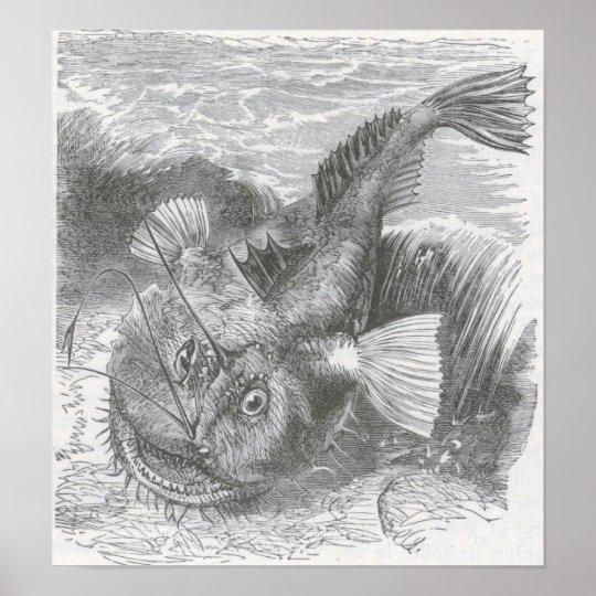 James Johonnot - Angler-Fish Poster