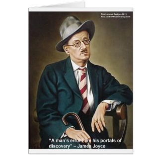 "James Joyce ""Errors/Portals"" Quote Gifts & Cards"