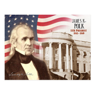 James K. Polk - 11th President of the U.S. Postcard
