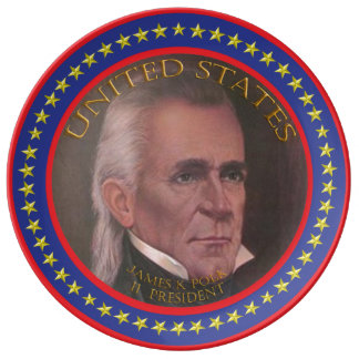james k polk 11th president plate