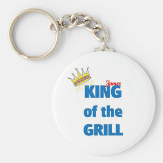 James king of the grill key chains