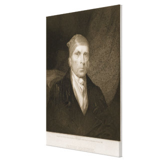 James Madison aged 82, engraved by Thomas B. Welch Canvas Print