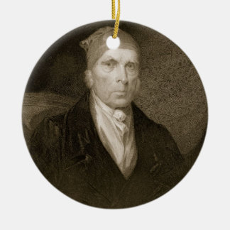 James Madison aged 82, engraved by Thomas B. Welch Christmas Ornament