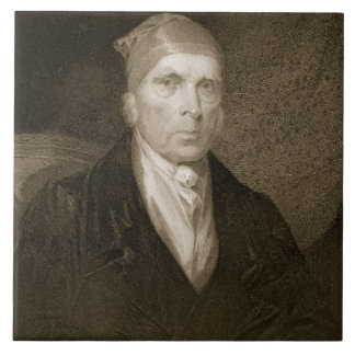 James Madison aged 82, engraved by Thomas B. Welch Tile