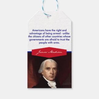 James Madison Gift Tags