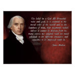 James Madison God Poster