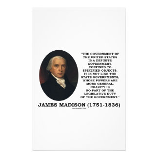 James Madison Govt Of United States Specified Govt Personalised Stationery