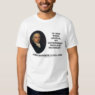James Madison Men Angels No Government Necessary Tee Shirt