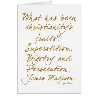 James Madison on christianity Card