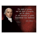 James Madison Property Rights Poster