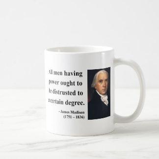 James Madison Quote 1b Basic White Mug