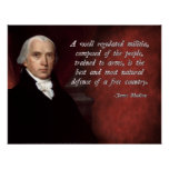James Madison Second Amendment Poster