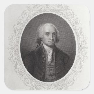James Madison Square Sticker