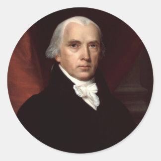 James Madison Round Sticker