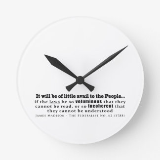 James Madison The Federalist No. 62 (1788) Clocks