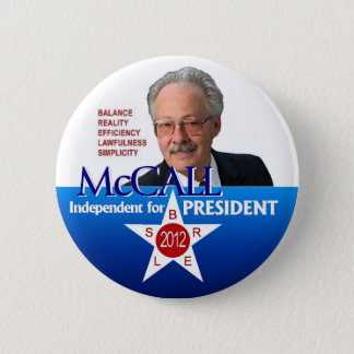 James McCall for president 2012 6 Cm Round Badge