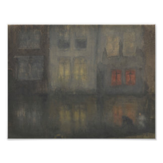 James McNeill Whistler - Nocturne - Black and Red Photo Print