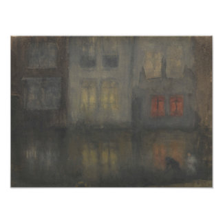James McNeill Whistler - Nocturne - Black and Red Photograph