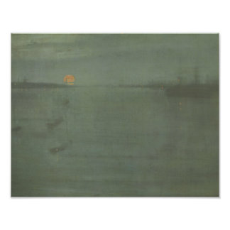 James McNeill Whistler - Nocturne- Blue and Gold Art Photo