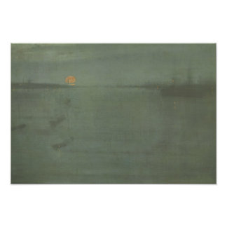 James McNeill Whistler - Nocturne- Blue and Gold Photo Art
