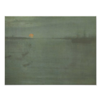 James McNeill Whistler - Nocturne- Blue and Gold Photo Print