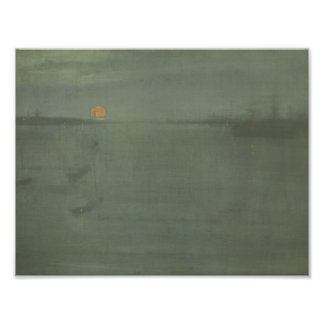 James McNeill Whistler - Nocturne- Blue and Gold Photograph