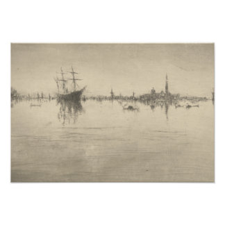 James McNeill Whistler - Nocturne Photographic Print