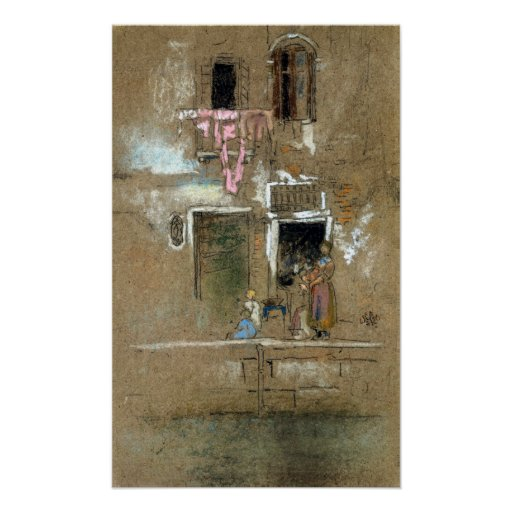 James McNeill Whistler Note in Pink and Brown