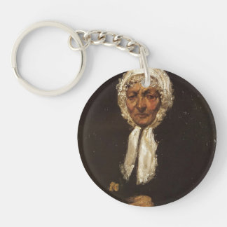 James McNeill Whistler- Old Mother Gerard Single-Sided Round Acrylic Key Ring