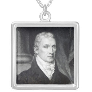James Monroe, engraved by Thomas Gimbrede Silver Plated Necklace