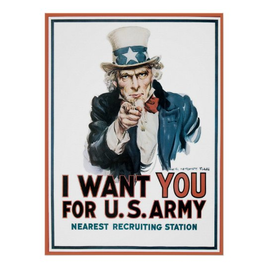 James Montgomery Flagg I Want You For U.S. Army Poster