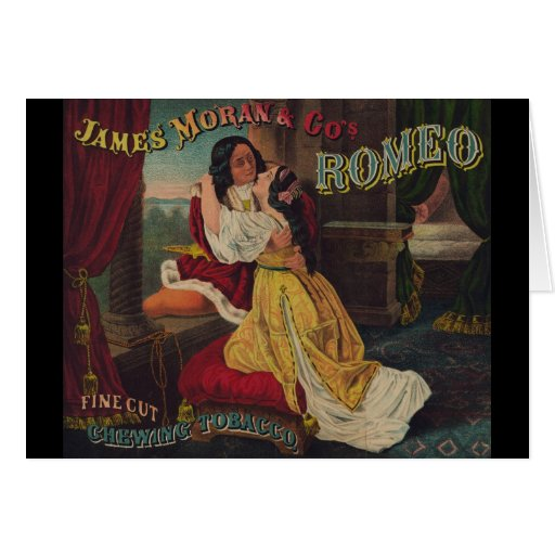 James Moran & Co's Romeo Chewing Tobacco Greeting Cards