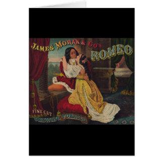 James Moran & Co's Romeo Chewing Tobacco Greeting Card