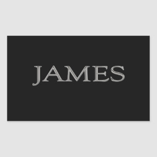James Personalized Name Rectangular Sticker