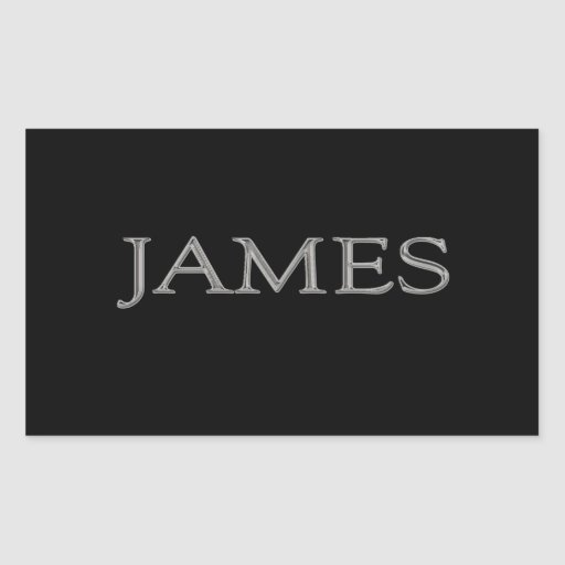 James Personalized Name Sticker