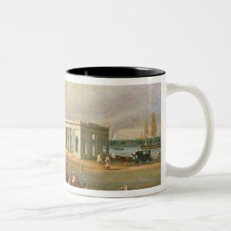 James Prinsep's Memorial, on the Hooghli River, Ca Two-Tone Coffee Mug