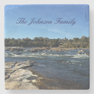 James River personalized family Stone Coaster