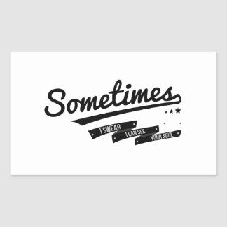 James - Sometimes Lyrics Retro Inspired Rectangular Sticker
