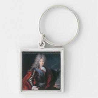 James Stuart Fitzjames  1st Duke of Berwick Silver-Colored Square Key Ring