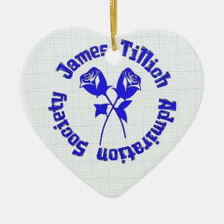 James Tillich Admiration Society Ceramic Heart Decoration