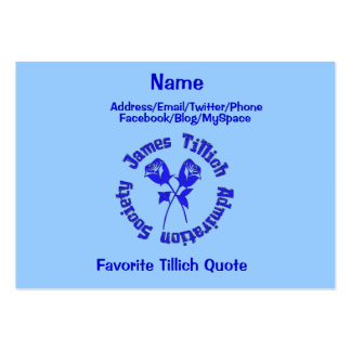James Tillich Admiration Society Pack Of Chubby Business Cards