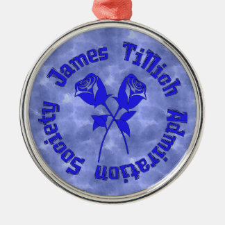 James Tillich Admiration Society Silver-Colored Round Decoration