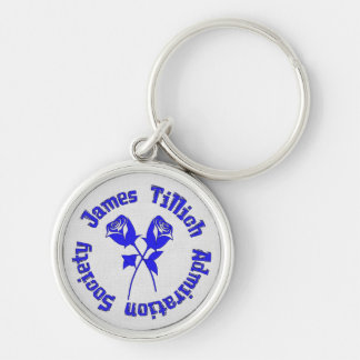 James Tillich Admiration Society Silver-Colored Round Key Ring